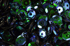 3/4/6mm Dark Blue Green Cup Glossy Iridescent Sequins Sheen Round Sequins