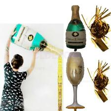 Wine Champagne Bottle Foil Helium Balloon Tinsel Tassel Christmas Birthday Party