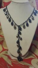 SIMPLY VERA WANG NWT $44 Jet Bead Y Necklace Red Blue