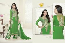 Ladies Semistitched Georgette Net Embroidered Salwar Suit Indian Pakistani Silky