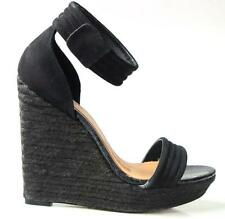 new MARK & JAMES by BADGLEY MISCHKA 'Maggie' black platforms WEDGES shoes 9 -HOT