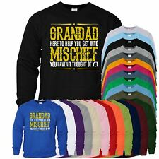 Grandad Mischief Mens Womens Sweat Birthday Gift For Grandad Fathers Day Sweater