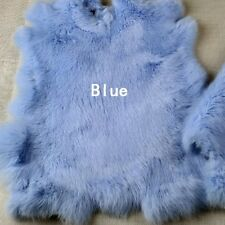 DIY Rabbit Fur Pelt Fabric For Costume Bag Muffle Accessories Crafts Puffy Soft