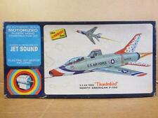 vintage Lindberg F-100 Thunderbird Jet Model Kit  Motorized engines 1968  Parts