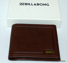 billabong WALLET MENS NEW SCOPE JAVA BROWN GRAIN REAL LEATHER LOGO Dual 2 in 1