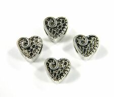 Heart Antique Silver Beads Paracord Bracelets & Lanyards Jewelry - US Seller