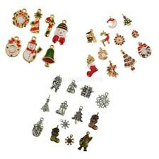 Pack of Assorted Tibetan Christmas DIY Jewelry Charms Pendant Beads Findings