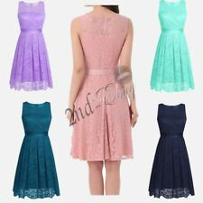 Elegant Womens Floral Lace Bridesmaid Short Dress Party Evening Cocktail Wedding