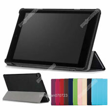 PU Leather Stand Flip Case Cover Skin For Amazon Kindle Fire HD 10 2017+Film