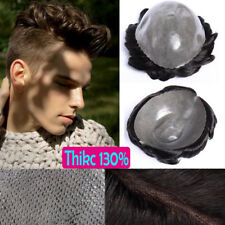 "French Lace Base Man Toupee Virign Human Hair Wig Replacement Systems 6"" US F460"