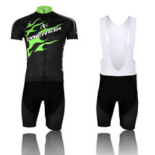 Merida Green Fire Bike Clothing Men's Cycling Jersey & (Bib) Shorts Set S-5XL