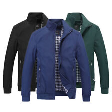 Fashion Men´s Zipper Nylon Coats Casual Stand-up Collar Jackets Outerwear AJF
