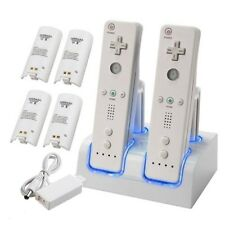 FR Nintendo Wii Remote Rechargeable Battery Pack + Charging Dock Station Cradle