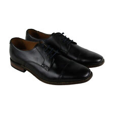 Clarks Narrate Cap Mens Black Leather Casual Dress Lace Up Oxfords Shoes