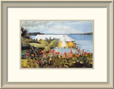 'Flower Garden and Bungalow Bermuda' by Winslow Homer Framed Painting Print