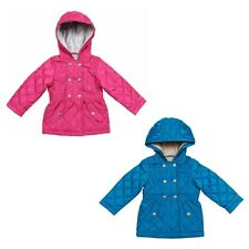 London Fog Hooded Quilted Midweight Jacket for Girls - Winter Coat