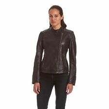 Excelled Ladies Lambskin Moto with Stud Embelishment