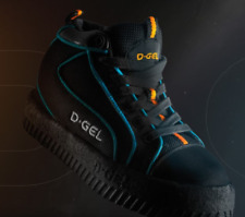 D-Gel Gripper Broomball Shoes Adult Sizes 7-14 Broom Ball Indoor Shoes *NEW