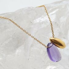 Multi Gemstone 925 sterling Silver with Gold Plated Necklace A1N- 1330 Low Price