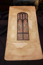 Nicola D'Ascenzo Church Stained Glass Window Design Proof Painting Birmingham AL