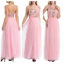 Sexy Women Wedding Bridesmaid Long Sequin Cocktail Ballgown Evening Formal Dress