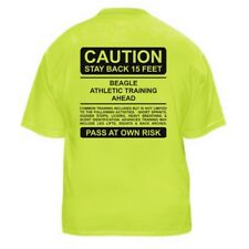 BEAGLE FUNNY DOG LOVER T-SHIRT - CAUTION - Sizes Small through 5XL