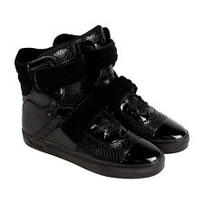 Radii Cylinder Mens Black Patent Leather High Top Lace Up Sneakers Shoes