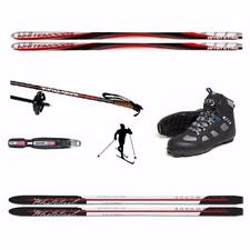 180cm METAL EDGE - UPGRADE BACK COUNTRY CROSS COUNTRY SKIS PACKAGE - UNBOX & SKI