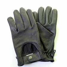 Mens Leather soft Driving Gloves Retro style Top quality Comfort Chauffeur King