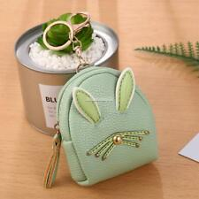 Women Synthetic Leather Cute Rabbit Ear Pattern Coin Purse Wallet with FT