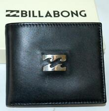 billabong WALLET MENS NEW RADIUS 2 BLACK  100% REAL LEATHER SURF LOGO Dual 2in1