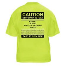 BASSET HOUND FUNNY DOG LOVER T-SHIRT - CAUTION - Sizes Small through 5XL