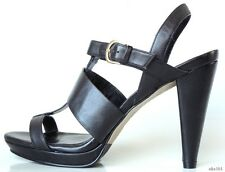 "new $278 COLE HAAN ""Whitney"" black leather open-toe T-strap shoes 10 - fabulous"