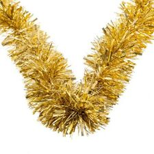 Christmas Tinsel Decorations Tree Ornaments Xmas Sparkle Gold Silver Red Festive