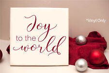 """Joy to the World"" - Vinyl Decal Wall Art Decor Sticker - Holiday Christmas"
