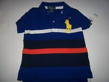 NEW POLO RALPH LAUREN blue stripe big pony red shirt baby infant toddler boys
