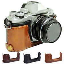 Camera Case Bag Grip Strap For Olympus OM-D E-M10 PU Leather Half Body Set Cover