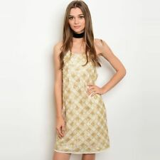 Shop The Trends Women's Spaghetti-strap Sequined Round-neck Shift Dress