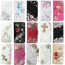 Lovely Rhinestone Crystal Leather Bling Phone Cases Cover PU Shell For iPhone