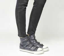 Womens Ash Virgin High Top GRAPHITE GREY Trainers Shoes