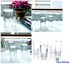 Water Tumbler Glass Clear Acrylic Drinking Glasses Tumblers Set BPA Free Vintage