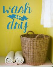 Wash And Dry Vinyl Letters Stickers Laundry Wall Decals Home Decor Laundry Quote