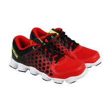 Reebok Atv19 Boys Black Red Synthetic Athletic Lace Up Running Shoes