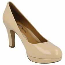Clarkes Anika Kendra Patent Womens Court Shoes - Nude- Size 6D