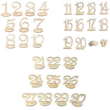 10pcs/Set Wood Table Number 1-30 Standing Wedding Table Centerpiece Decoration
