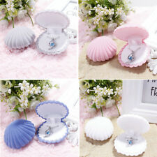 Shell Velvet Gift Box Ring Boxes Jewelry Display Earings Cute Storage Case