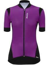 Santini Purple 2017 Wave Womens Short Sleeved Cycling Jersey