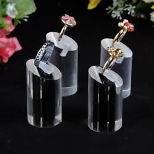 7Pcs Women Acrylic Finger Ring Display Stand Holder Jewelry Shop Showcase