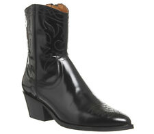 Womens Office Abandon High Cut Western Boots BLACK BOX LEATHER Boots