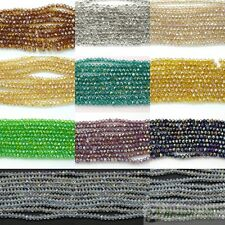 100 Czech Crystal 2mm x 3mm Faceted Rondelle Loose Beads Bracelet Necklace Craft